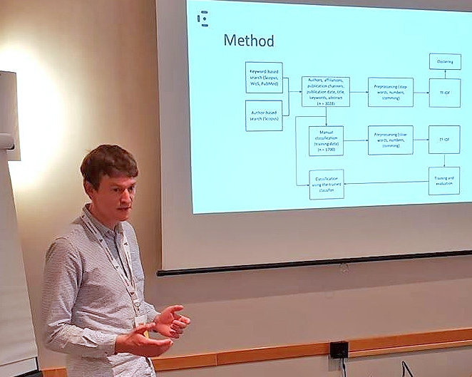 Andrius Budrionis presented findings on the Norwegian e-health search.