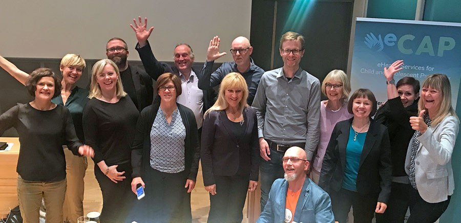 Participants from four countries - Scotland, Sweden, Finland and Norway - summed up their knowledge at the eCAP conference in Tromsø. Photo: Randi Laukli