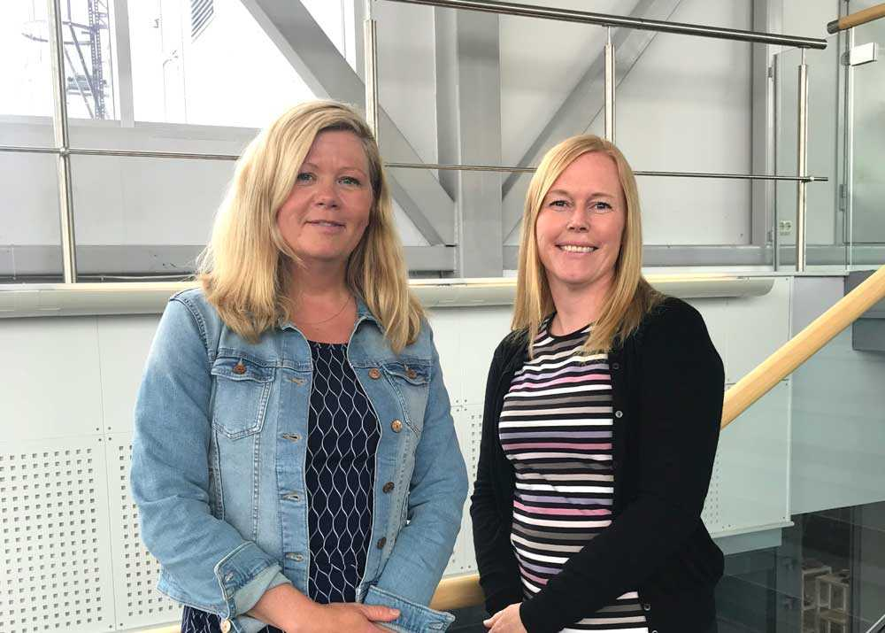 "- The coronavirus pandemic motivated us to find out how we can have effective video meetings in the healthcare sector,"" says the e-health researchers (from left) Line Silsand and Gro-Hilde Severinsen. Photo: Lene Lundberg"