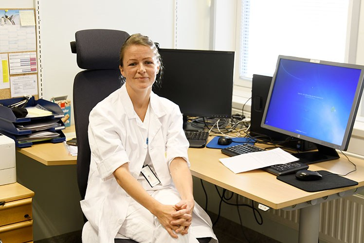 Marte Broks, lege ved Universitetssykehuset Nord-Norge. Foto: Rune Stoltz Bertinussen