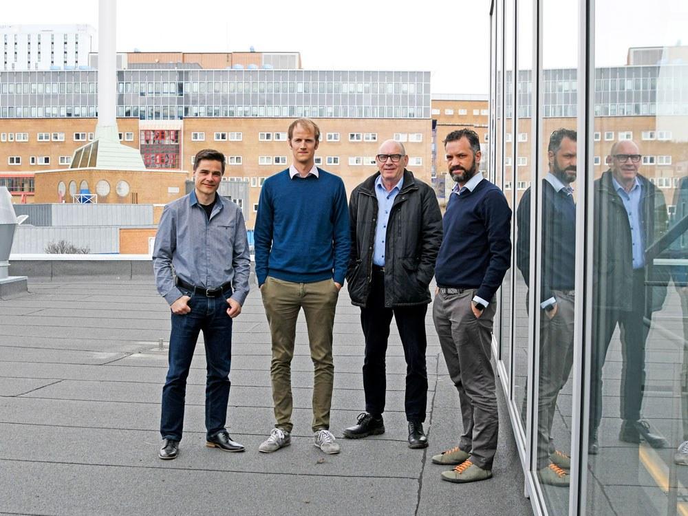 Fra venstre Robert Jenssen, Karl Øyvind Mikalsen, Arthur Revhaug og Stein Olav Skrøvseth. Foto: Rune S. Bertinussen
