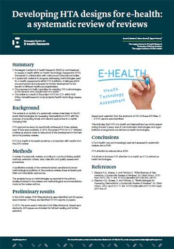 Poster 2017 13 70x100 Developing HTA designs for e health 359w