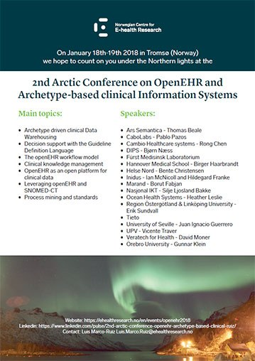 Poster 2017 19 A4 2nd Arctic Conference on Open EHR 359w