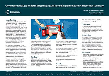 Poster 2018 08 70x100 MIE Governance and Leadership in EHR Implementation 359w