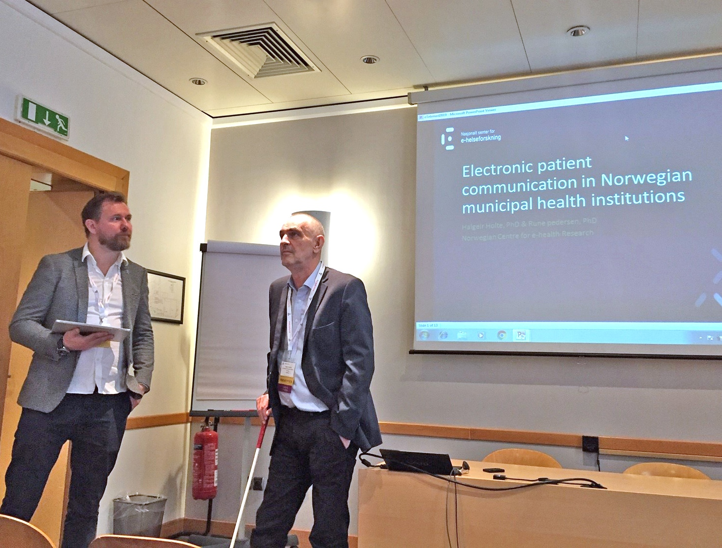 From left: Rune Pedersen and Halgeir Holthe, Norwegian Centre for E-health Research.