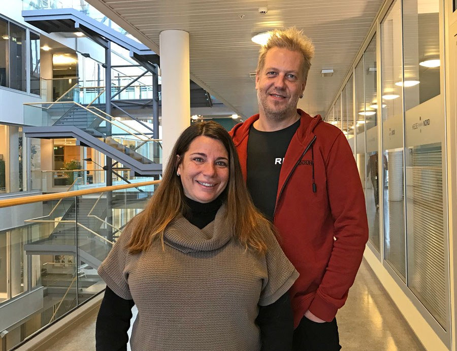 Conceição Granja and Terje Solvoll are chairs of the scientific committee for the Scandinavian Conference on Health Informatics – SHI 2019. Photo: Lene Lundberg