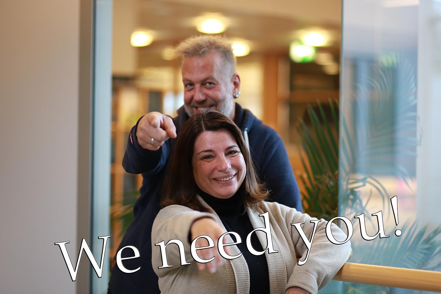 Hovedveileder Terje Solvoll og prosjektleder Conceição Granja Bartnæs ønsker hjelp i arbeidet med WARIFA-prosjektet. Foto: Hasse Berntsen.