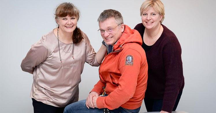 Gro Rosvold Berntsen, Markus Rumpsfeld og Monika Dalbakk er blant de står bak forskningen som viser at pasienter som får koordinerte helsetjenester har 43 prosent bedre overlevelse enn de som få oppleve det vanlige helsesystemet. Foto: Jan Fredrik Frantzen, UNN.